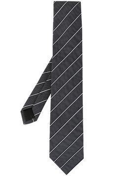 D'urban striped dotted tie - Black