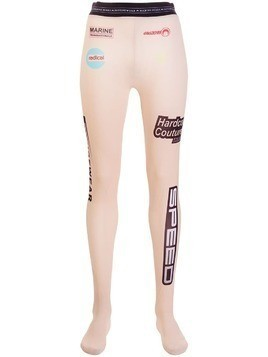 Marine Serre Speed logo print leggings - Neutrals