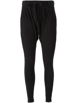 Bassike drop crotch track pants - Black