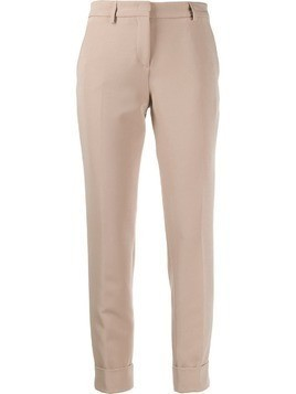 Blanca cropped trousers - Neutrals