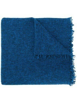 Faliero Sarti fringed knitted scarf - Blue