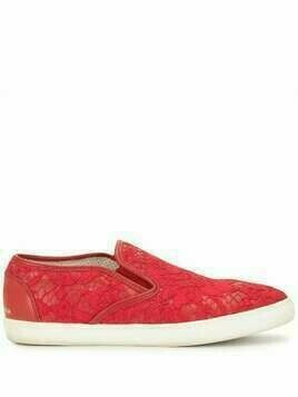 Dolce & Gabbana Pre-Owned lace slip-on sneakers - Red