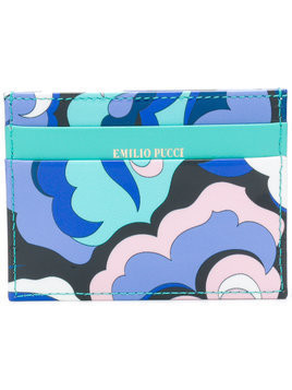 Emilio Pucci abstract print card holder - Multicolour