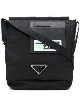 Prada technical fabric shoulder bag - Black