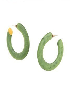 Cult Gaia Malachite Mira earrings - Green