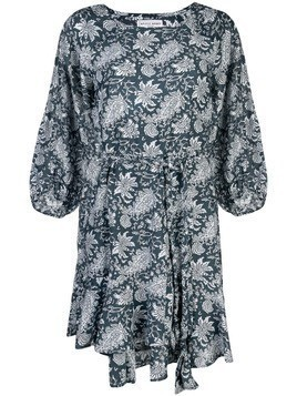 Apiece Apart floral bell sleeve dress - Blue