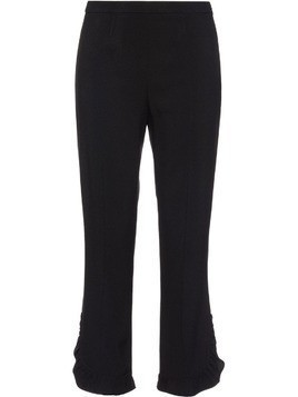 Prada Sablé trousers with ruches - Black