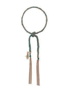 Carolina Bucci 18kt rose gold Lucky Bracelet with Baby Boy Charm - Blue