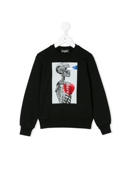 Dsquared2 Kids skeleton print sweatshirt - Black