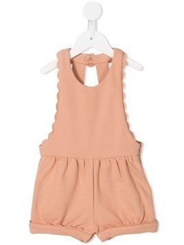 Chloé Kids open back dungarees - PINK