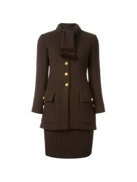 Chanel Vintage skirt and blazer suit - Brown