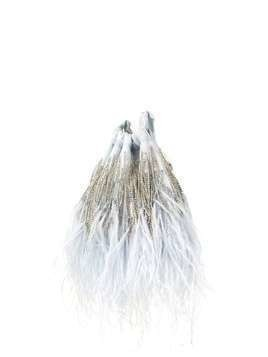 Ingie Paris embellished fringed tote - Blue