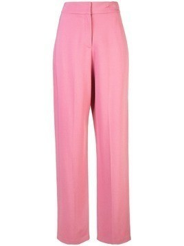 Derek Lam Flat Front Relaxed Stretch Crepe Trouser - Pink
