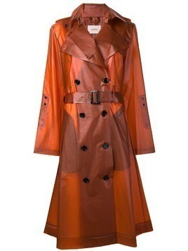 Dorothee Schumacher transparent trench coat - Yellow & Orange