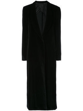 Giuliva Heritage Collection long single breasted jacket - Black