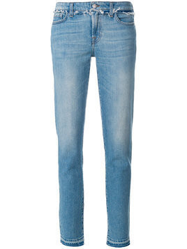 7 For All Mankind - frayed trim jeans - Damen - Cotton/Spandex/Elastane - 24 - Blue