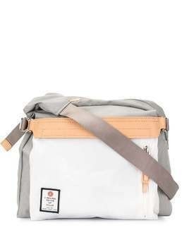 As2ov contrast panel shoulder bag - Grey