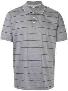 Gieves & Hawkes striped polo shirt - Grey