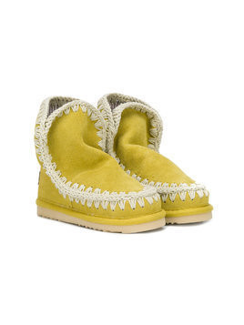 Mou Kids slip-on booties - Yellow & Orange