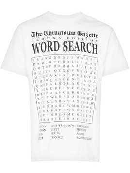 Chinatown Market x Browns Word Search print T-shirt - White