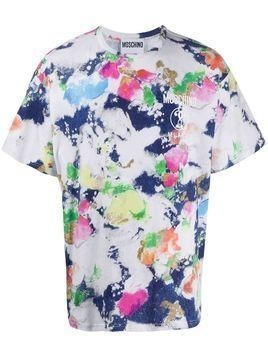 Moschino abstract paint print T-shirt - White