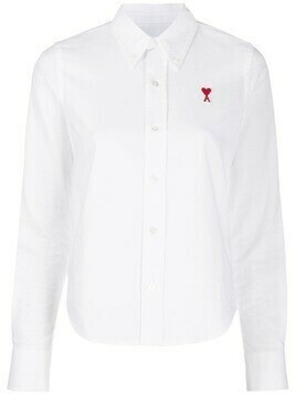 AMI Ami de Coeur embroidered shirt - White