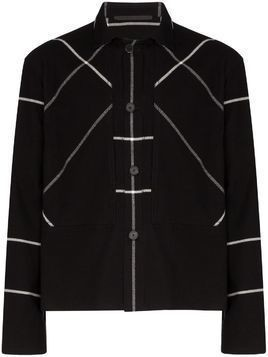 Haider Ackermann Machoi check work shirt - Black