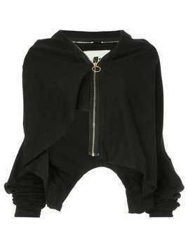 Aganovich layered zip-up jacket - Black