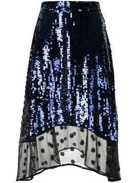 Markus Lupfer sequin lace skirt - Blue