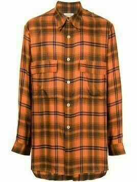 Bed J.W. Ford check button-down shirt - Orange