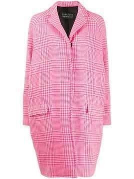 Gianluca Capannolo houndstooth pattern single-breasted coat - PINK