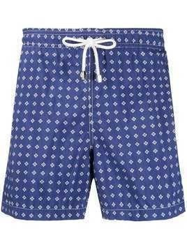 Borrelli patterned swim shorts - Blue