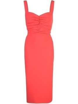 Likely slim-fit midi dress - Orange
