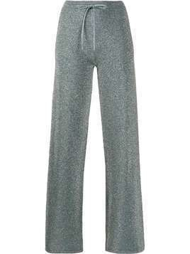 LANVIN metallic glitter track pants - Blue