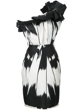 Isabel Sanchis blurred print dress - Black