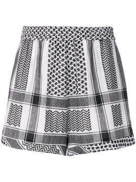Cecilie Copenhagen tapestry pattern shorts - White
