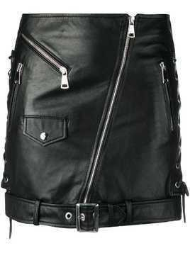 Manokhi biker mini skirt - Black