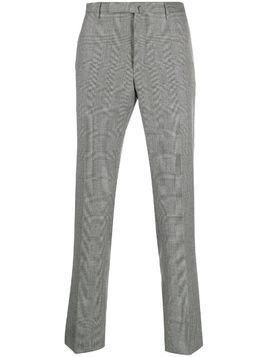 Incotex houndstooth print trousers - Grey