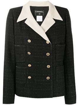 Chanel Pre-Owned 2002 double-breasted blazer - Black