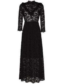 By Timo high neck lace maxi dress - Black