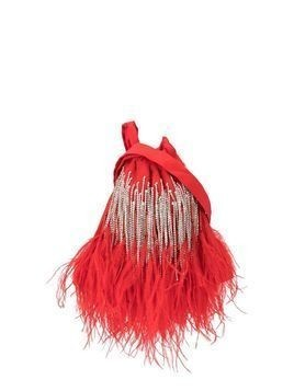 Ingie Paris embellished fringed tote - Red