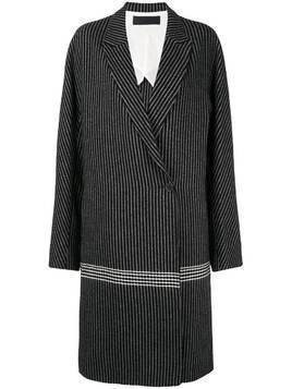 Haider Ackermann jacquard contrast edge coat - Black