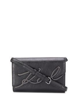 Karl Lagerfeld K/Signature metallic belt bag - Black