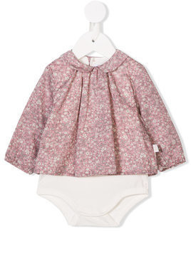 Il Gufo floral print body - Pink & Purple