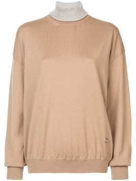 Paco Rabanne turtleneck sweater - Brown