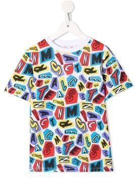 Stella McCartney Kids logo letters print T-shirt - White