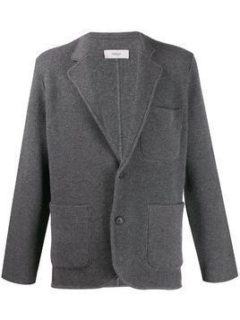 Pringle of Scotland singled breasted knitted blazer - Grey