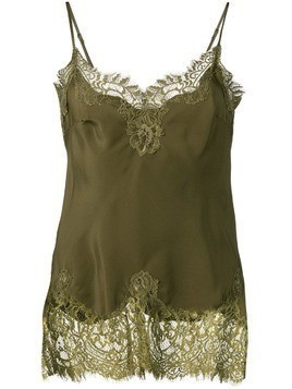 Gold Hawk lace panel top - Green