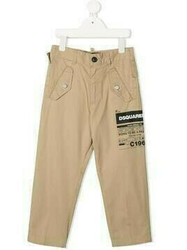 Dsquared2 Kids logo-print trousers - Neutrals