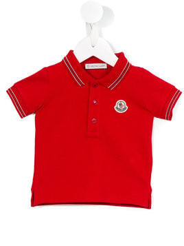 Moncler Kids - classic polo shirt - Kinder - Cotton/Spandex/Elastane - 9-12 mth - Red